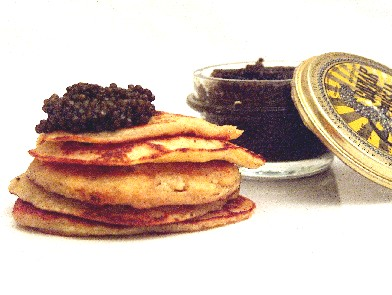 From Russia with love… Blinis & caviale!