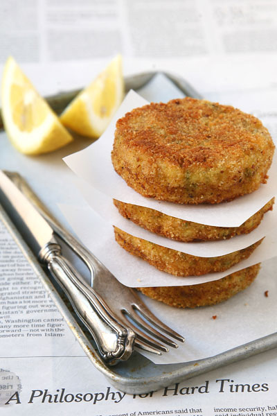 Potato & herb cakes